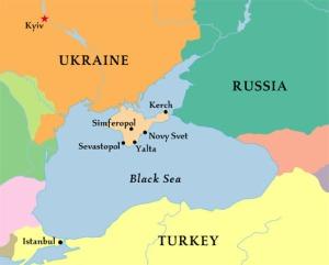 La penisola di Crimea, contesa fra Russia e Ucraina