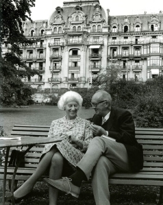 Vladimir Nabokov e la moglie Vera (Svizzera, 1970)